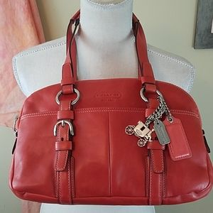 Coach Bonnie Soho Double Zip Leather Satchel